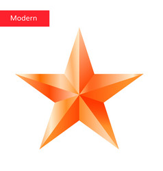 bronze star 3d icon vector image