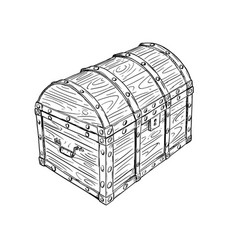 cartoon drawing of old empty closed or locked vector image