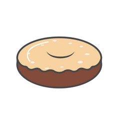 chocolate donut isolated icon vector image