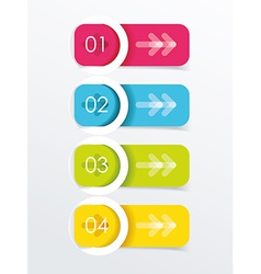 Colorful banners with white circles vector image vector image