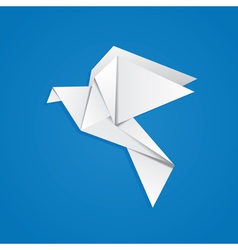 Origami pigeon vector