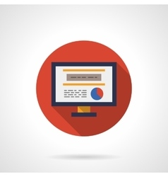 Web analytic icon round flat color icon vector image vector image