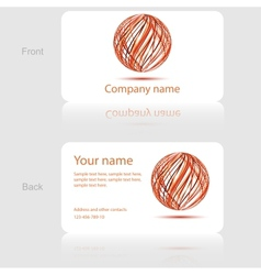 White business card with abstract circle vector image vector image
