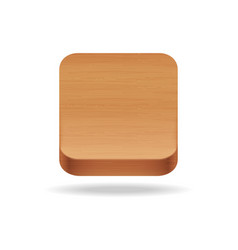 wooden app icon on the white background vector image