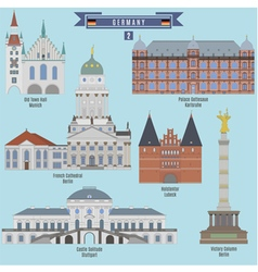 Famous Places in Germany vector image vector image