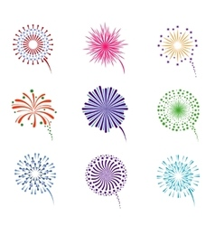 Fireworks display set vector image
