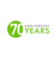 70 years logo concept vector