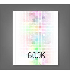 Abstract technology book vector