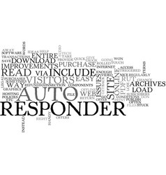 Autoresponder improvements text word cloud concept vector