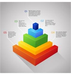 Bar colorful diagram vector