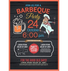 BBQ party menu vector