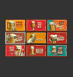 beer collection advertising poster set vector image