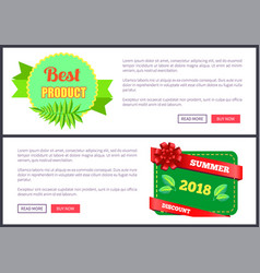 best product bright promo leaflet set exotic plant vector image