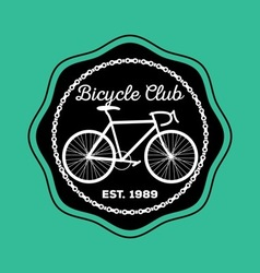 Bicycle logo1 vector image