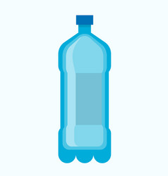 Big blue plastic bottle of fresh potable water vector