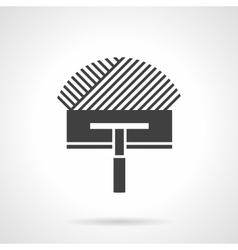 Black design icon for trowel vector image