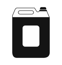 Black plastic canister flat icon vector image