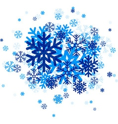 Blue snowflakes vector