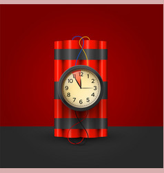 bomb with timer realistic 3d vector image