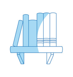 Book shelf literature encyclopedia image vector