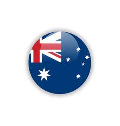 Button australia flag template design vector