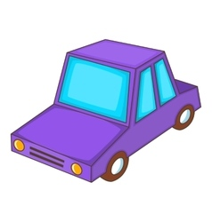 Car icon cartoon style vector