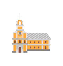 cartoon catholic religious building with cross on vector image