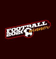 champion 2020 football logo modern professional vector image