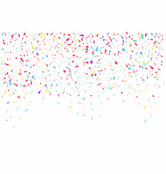 colorful confetti isolated on white background vector image