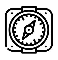 Compass pirate line icon vector
