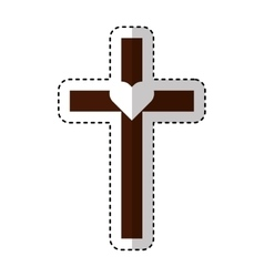 Cross first communion icon vector