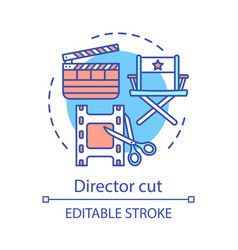 Director cut concept icon vector