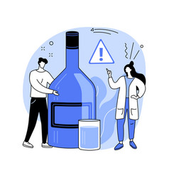 Drinking alcohol abstract concept vector