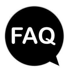 Faq icon on white background flat style faq vector