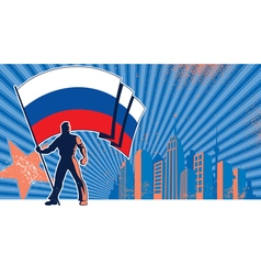 Flag Bearer Russia Background vector image