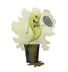 funny green ghost vector image