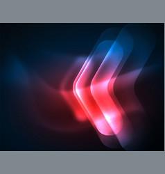 Futuristic neon glowing arrows techno background vector