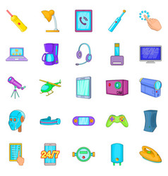 gadget icons set cartoon style vector image