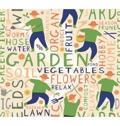 Gardener seamless tile vector image