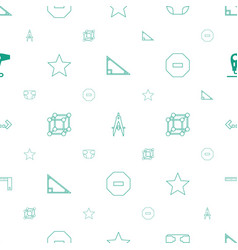 geometric icons pattern seamless white background vector image