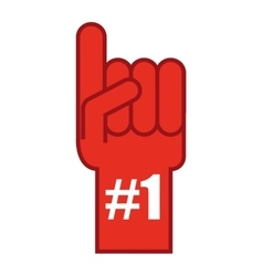 Glove first number one vector