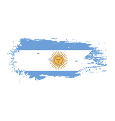 grunge brush stroke with argentina national flag vector image