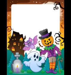 Halloween theme frame 6 vector