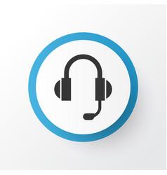 Headphone icon symbol premium quality isolated vector