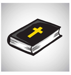Holy bible book catholic christian cross vector