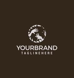 horse care logo design concept template vector image