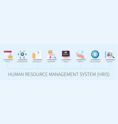 Human resource management system hris banner vector