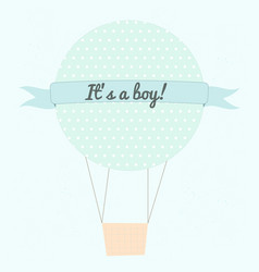 it s a boy vector image