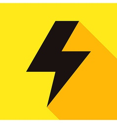 Lightning bolt icon vector image