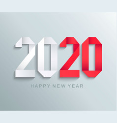 new 2020 year paper greeting card vector image